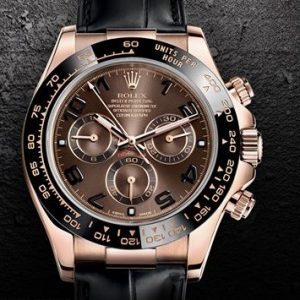 SAPH - Rolex - Cosmograph Daytona in 18 ct Everose gold with a black Cerachrom bezel - A