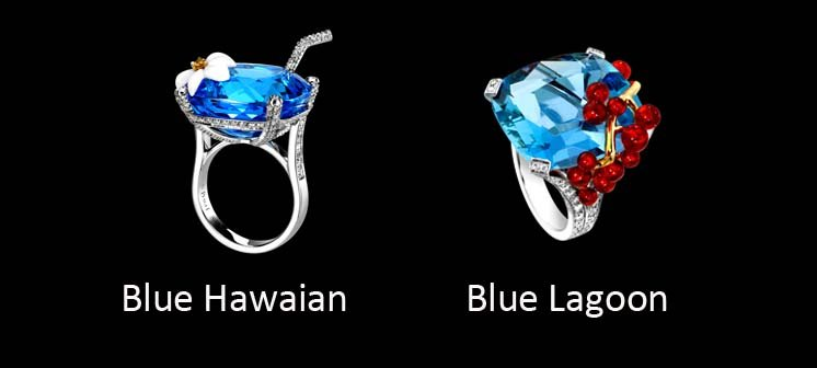 Piaget - Limelight - Topacio azul vs Aguamarina